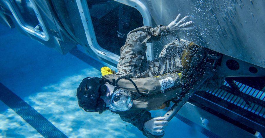 Escape under pressure helicopter training