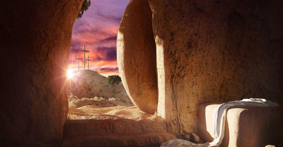 Easter resurrection tomb