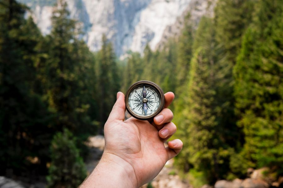 Using a compass for direction